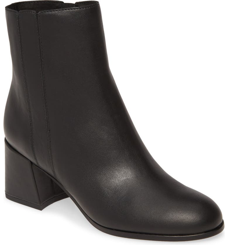EILEEN FISHER Tris Bootie, Main, color, BLACK LEATHER