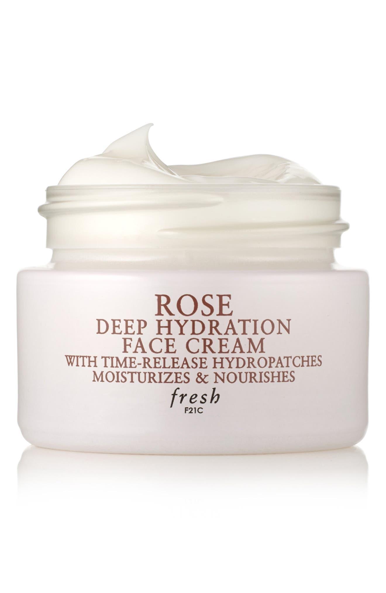 ,                             Rose Deep Hydration Face Cream,                             Alternate thumbnail 4, color,                             NO COLOR