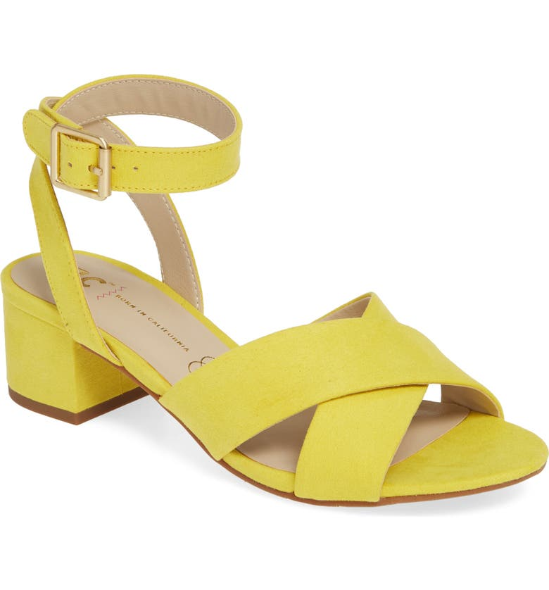 BC FOOTWEAR Vegan Sandal, Main, color, YELLOW