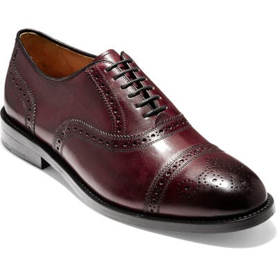 Cole Haan American Classics Kneeland Cap Toe Oxford, Red