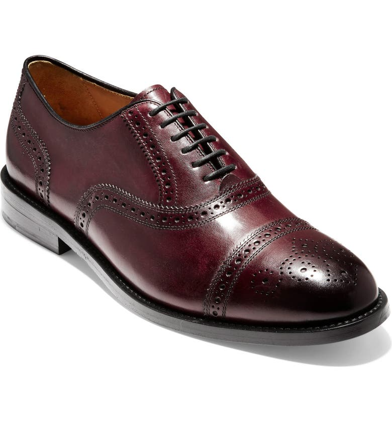 COLE HAAN American Classics Kneeland Cap Toe Oxford, Main, color, OXBLOOD LEATHER