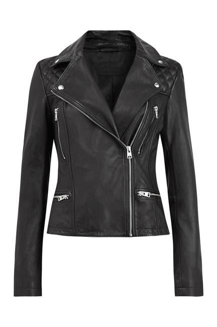 Image of ALLSAINTS Catch Leather Moto Jacket