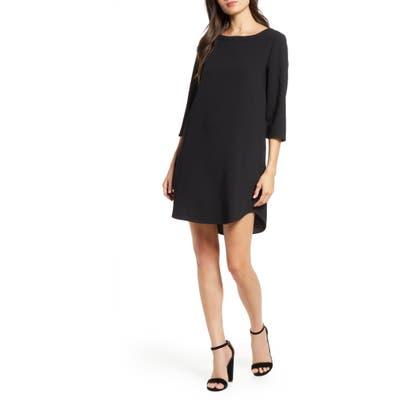 Bb Dakota Jazlyn Crepe Shift Dress, Black