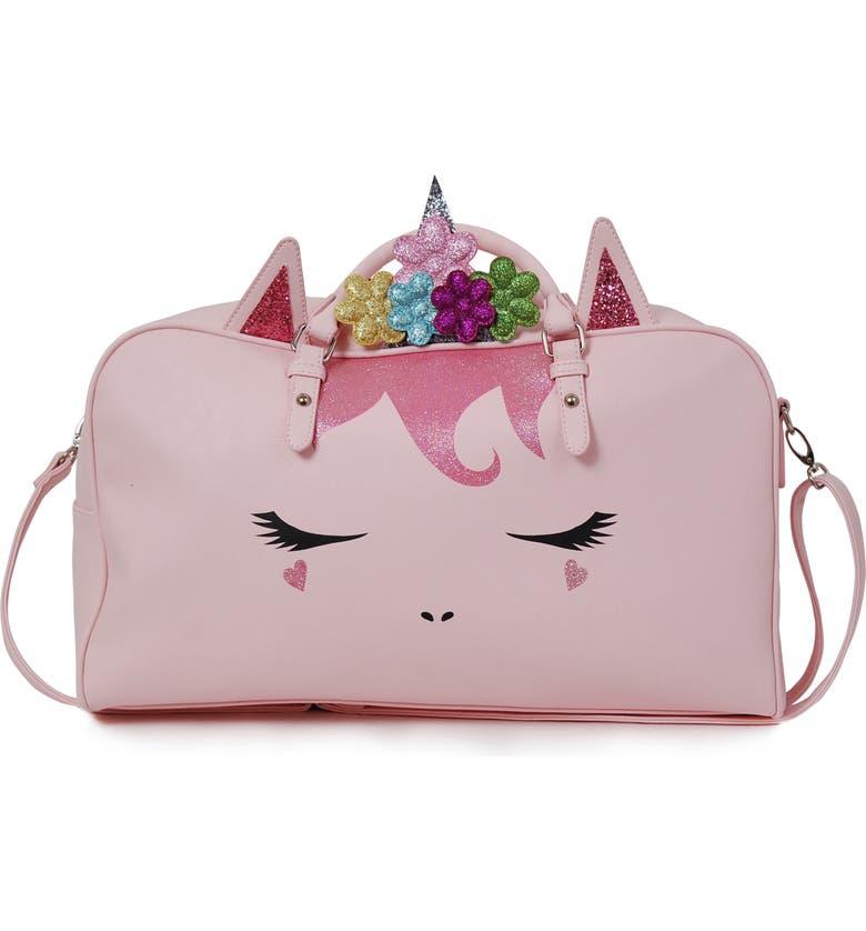 OMG Unicorn Duffle Bag, Main, color, PINK