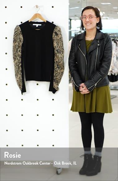 Adler Python Print Mixed Media Sweater, sales video thumbnail