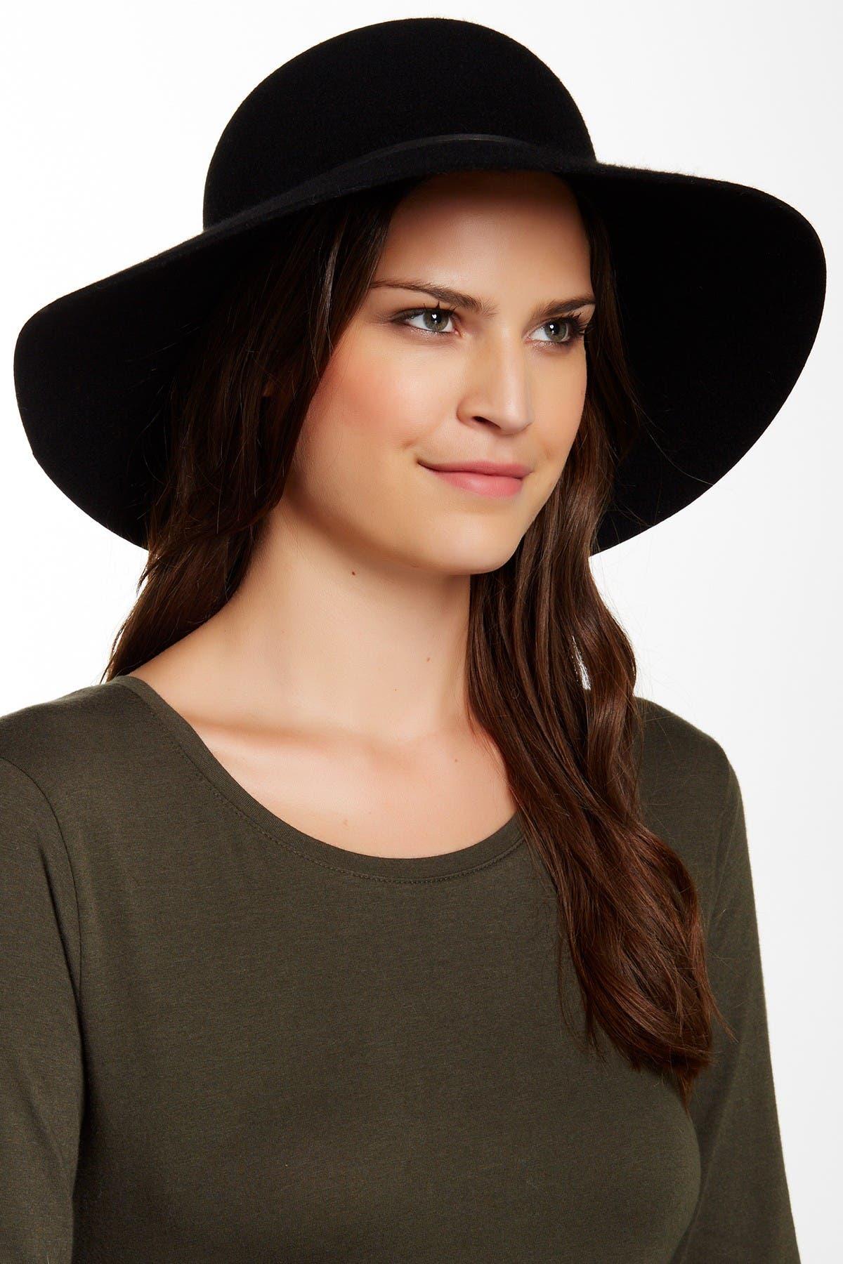 Image of PHENIX Round Crown Floppy Wool & Leather Hat