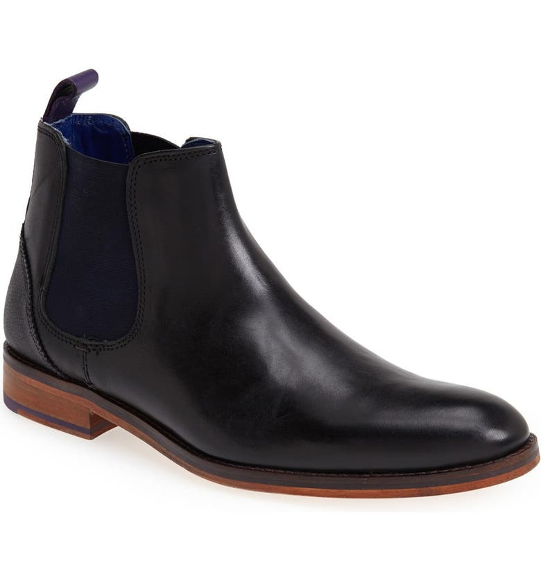 TED BAKER LONDON 'Camroon' Chelsea Boot, Main, color, 001