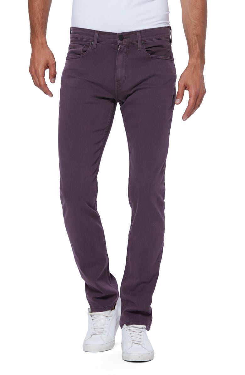 PAIGE Transcend Federal Slim Fit Straight Leg Jeans, Main, color, VINTAGE PLUM WINE