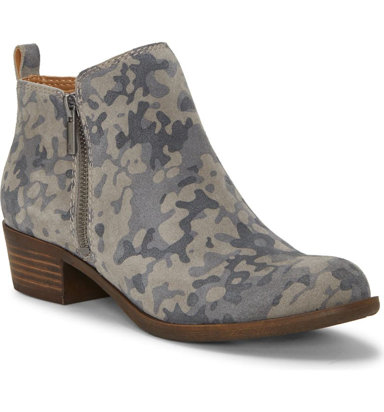 LUCKY BRAND Basel Bootie, Main, color, TITANIUM LEATHER
