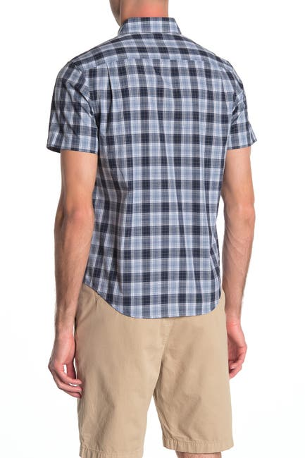 Image of Original Penguin Textured Check Print Slim Fit Shirt