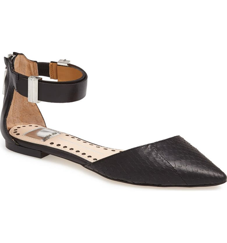 DOLCE VITA 'Agusta' Ankle Strap d'Orsay Flat, Main, color, 001