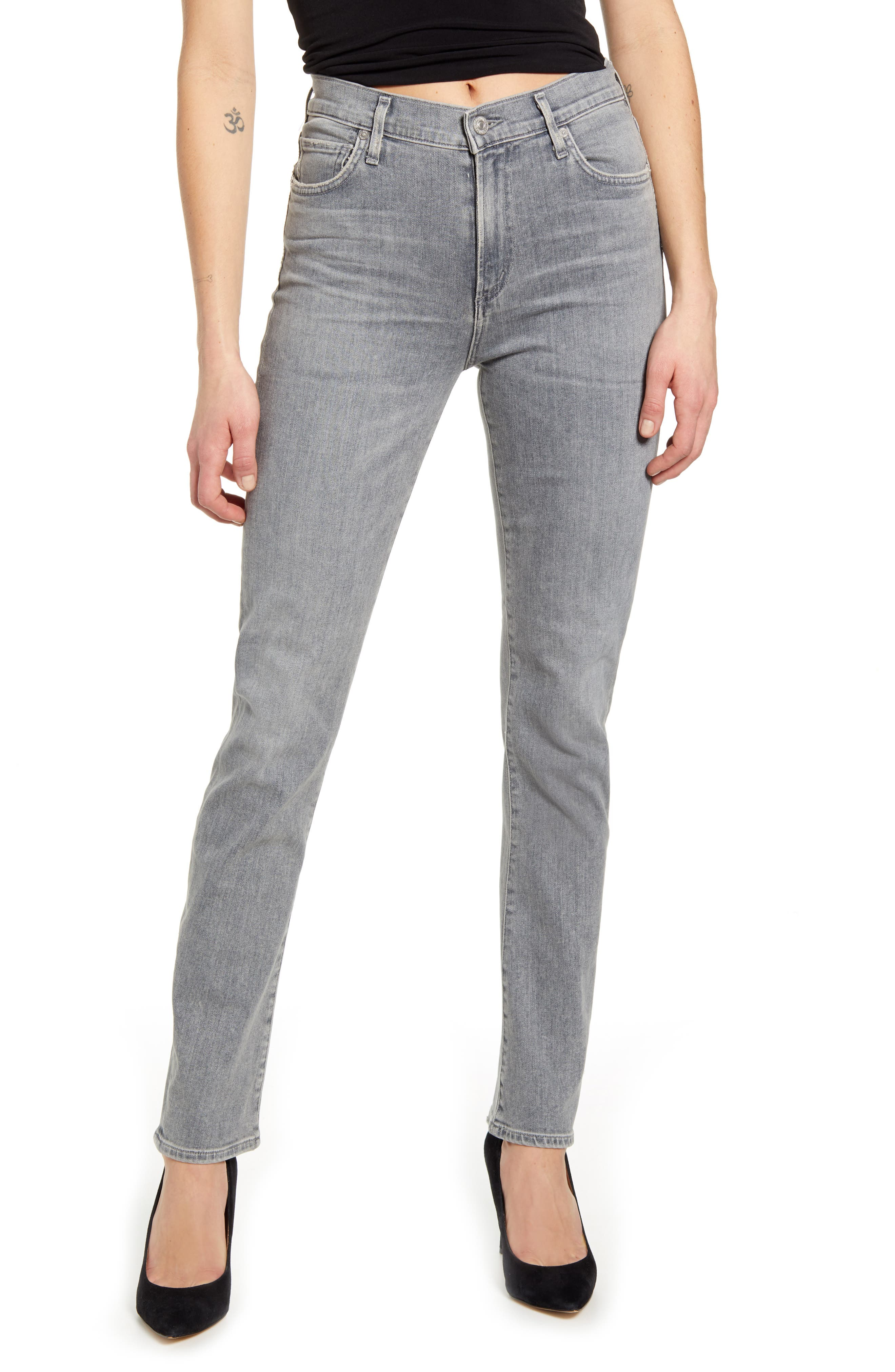 Women's Citizens Of Humanity Harlow Ankle Slim Jeans,  26 - Grey