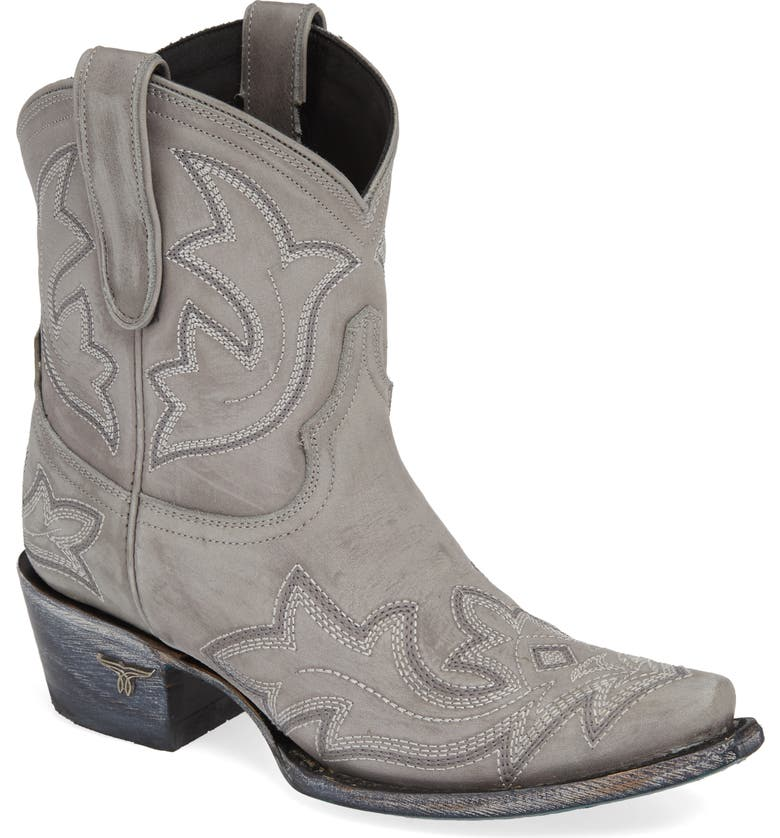 LANE BOOTS Saratoga Western Boot, Main, color, GRAY LEATHER