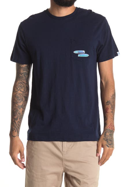 Image of Mr. Swim Surf Board Graphic Crew Neck T-Shirt