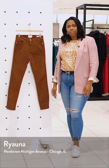 Le High Waist Corduroy Skinny Pants, sales video thumbnail