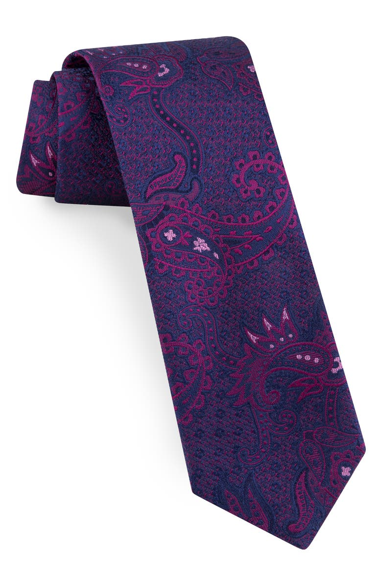TED BAKER LONDON Paisley Silk Tie, Main, color, PINK