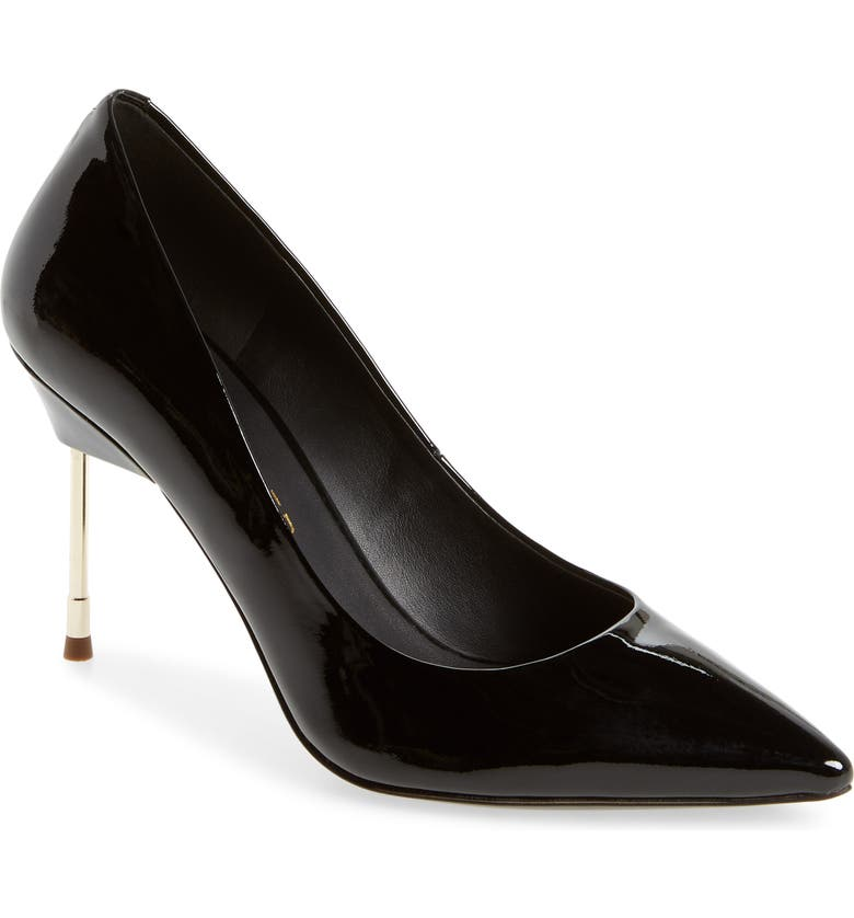 KURT GEIGER LONDON Britton 90 Pump, Main, color, BLACK PATENT LEATHER