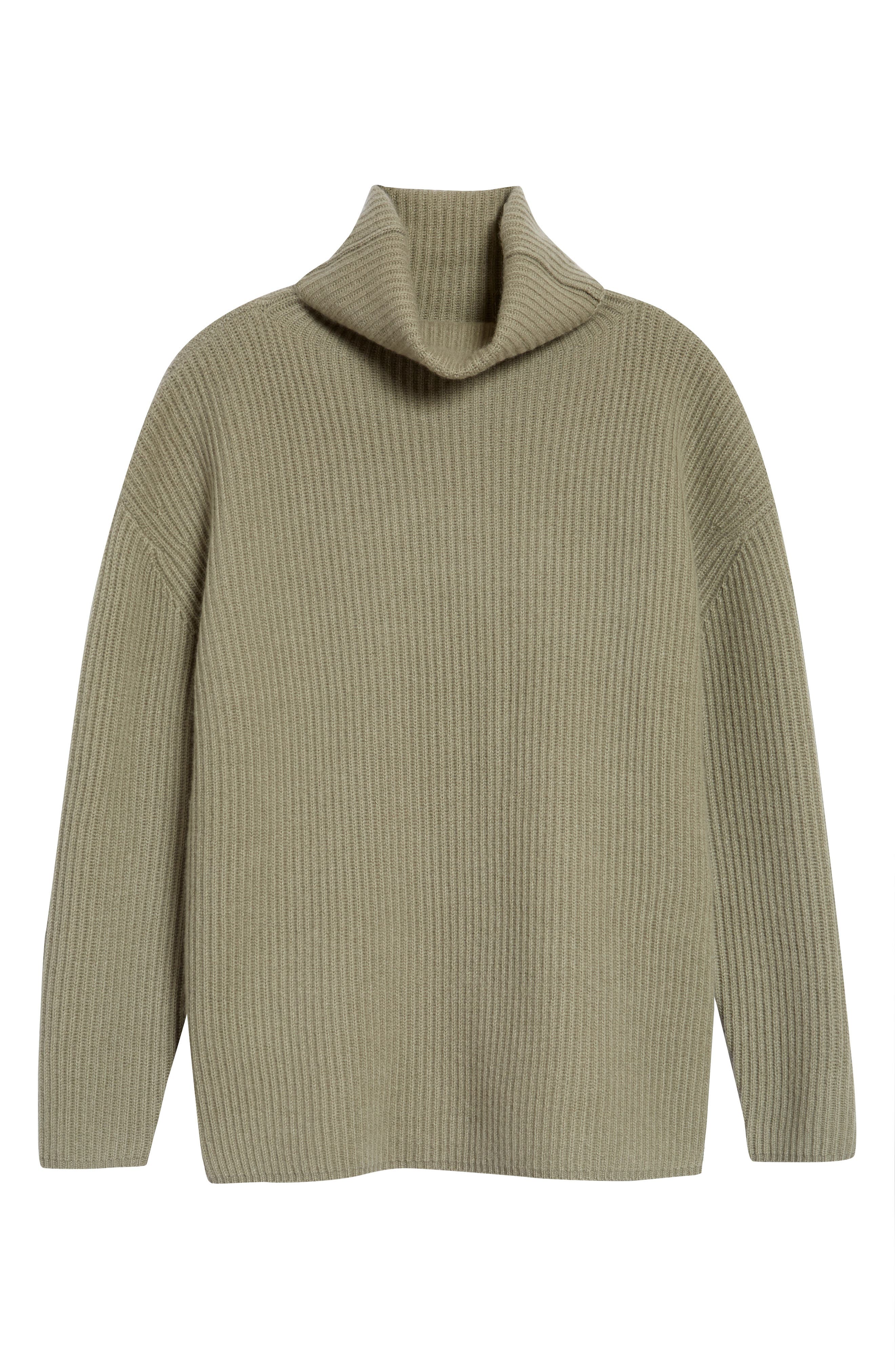 A fold-over funnel neck frames the face atop this easy, wear-everywhere tunic sweater knit from sumptuous cashmere yarn. Style Name: Nordstrom Signature Funnel Neck Cashmere Tunic Sweater. Style Number: 6037641. Available in stores.