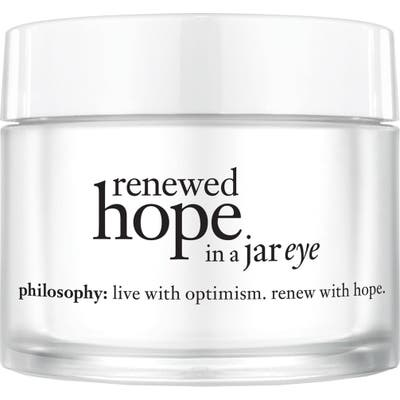 Philosophy Renewed Hope In A Jar Eye
