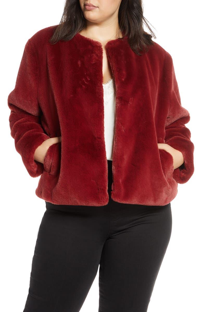 SANCTUARY Firework Faux Fur Jacket, Main, color, 610