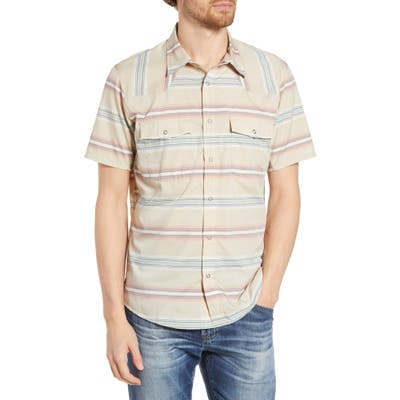 Patagonia Bandito Regular Fit Short Sleeve Shirt, Beige