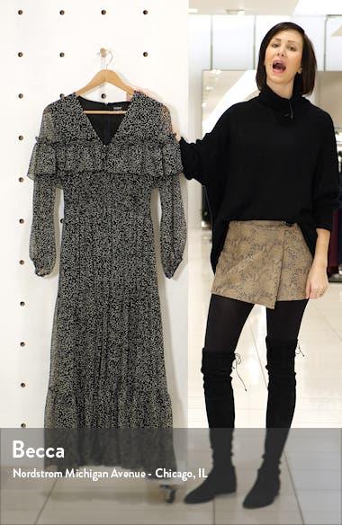 Kamila Print Long Sleeve Chiffon Dress, sales video thumbnail