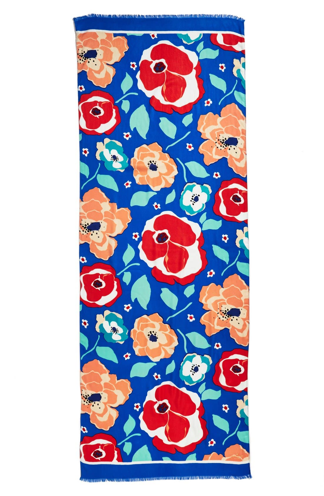 ,                             'multi floral' scarf,                             Alternate thumbnail 2, color,                             400