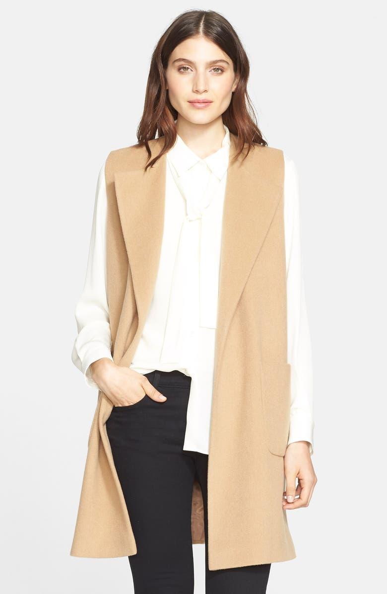 HELENE BERMAN 'Edge to Edge' Wool Blend Waistcoat, Main, color, 250