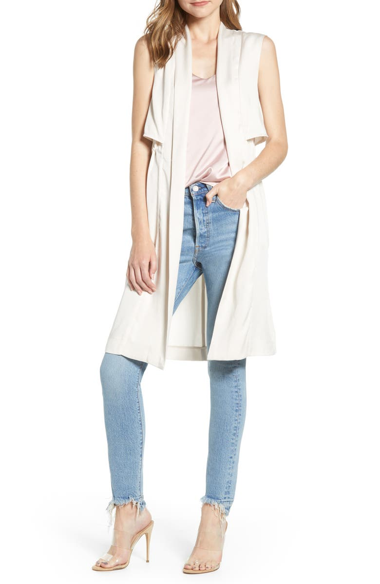 CUPCAKES AND CASHMERE Stacy Long Vest, Main, color, 251