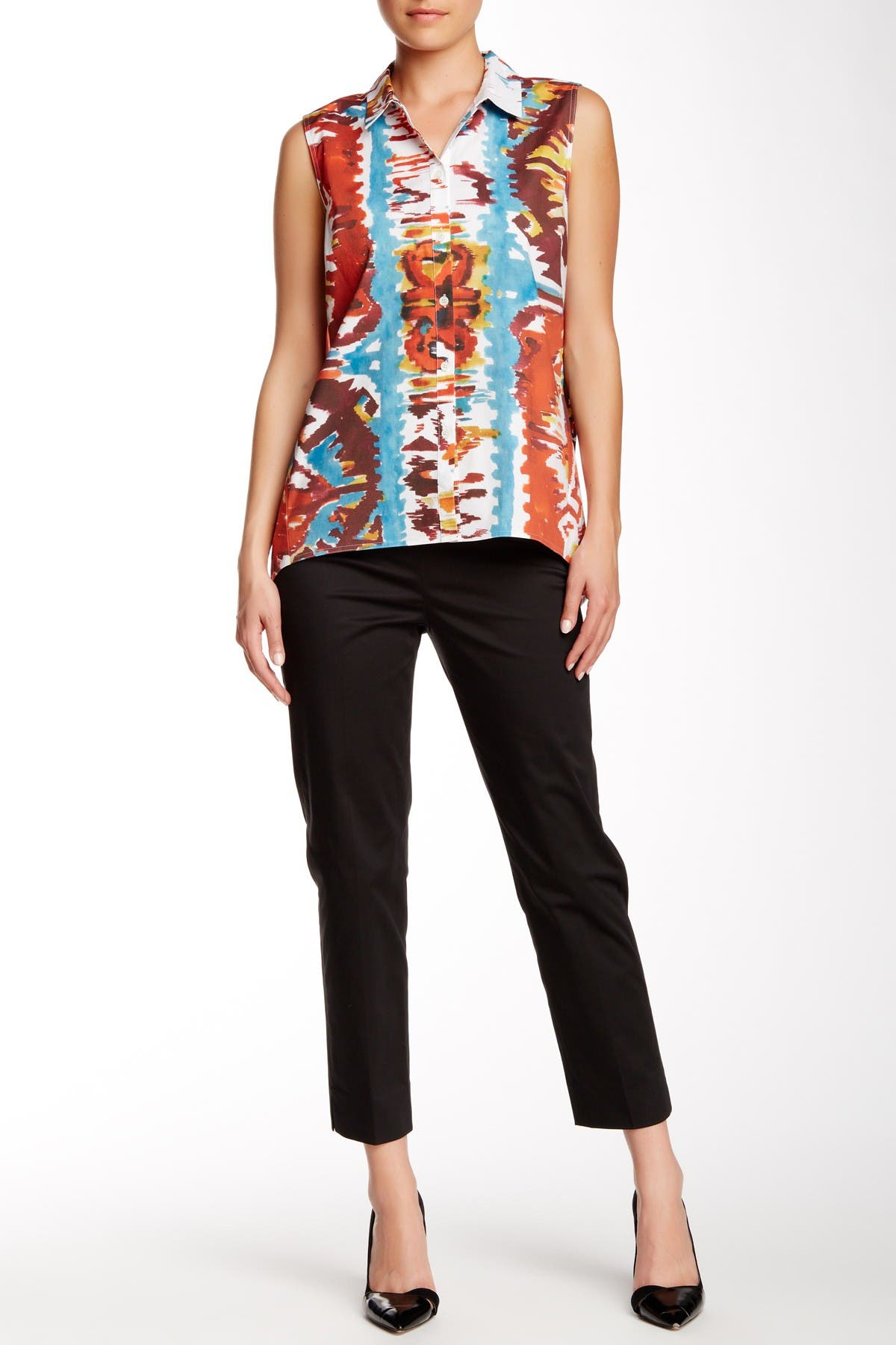 Image of Lafayette 148 New York Cropped Side Zip Ankle Pants