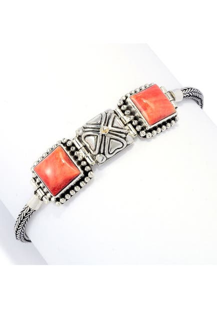 Image of Samuel B Jewelry Sterling Silver & 18K Yellow Gold Spiny Oyster Bracelet