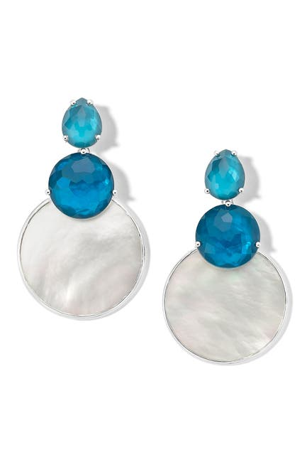 Image of Ippolita Sterling Silver Layered Shell Drop Earrings