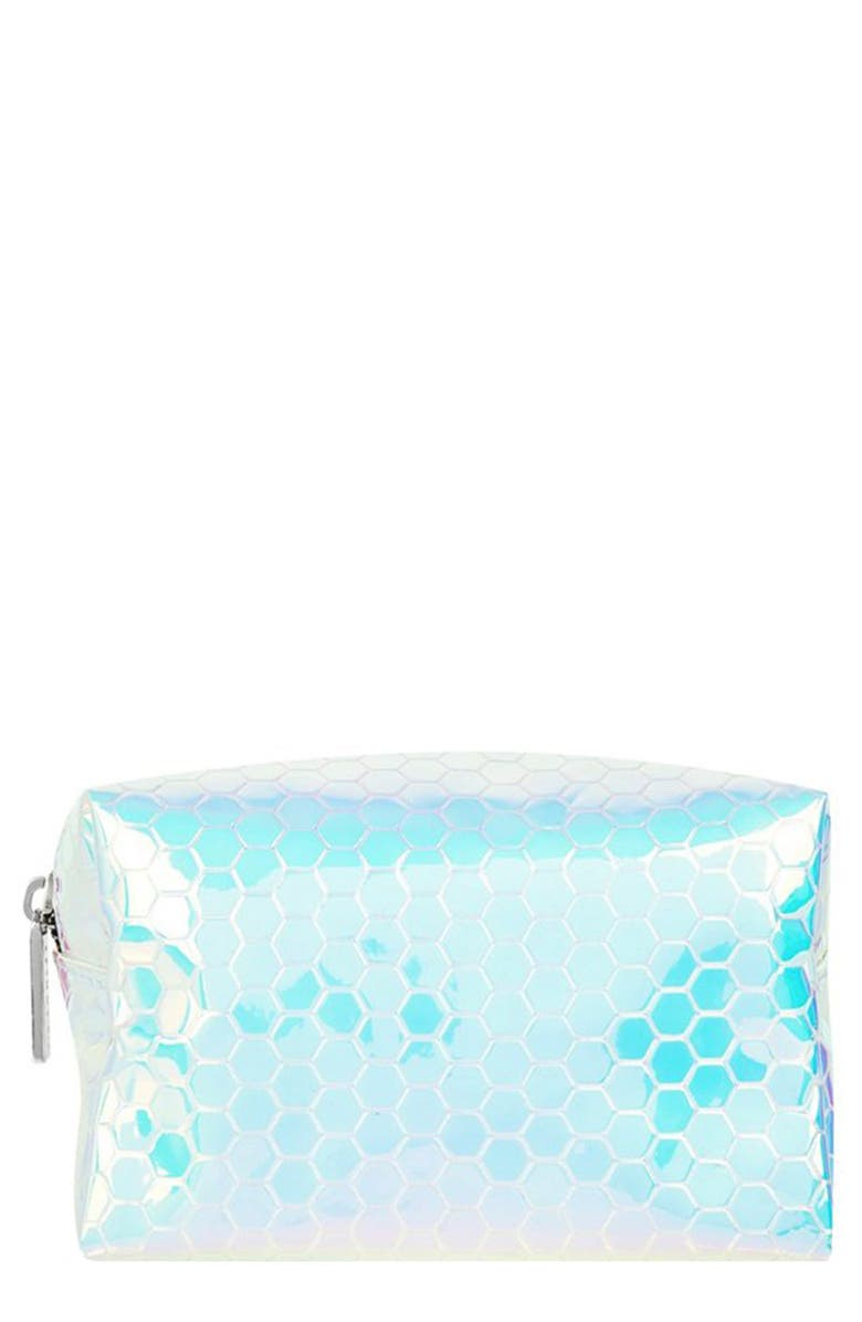 SKINNYDIP Honeycomb Makeup Bag, Main, color, NO COLOR