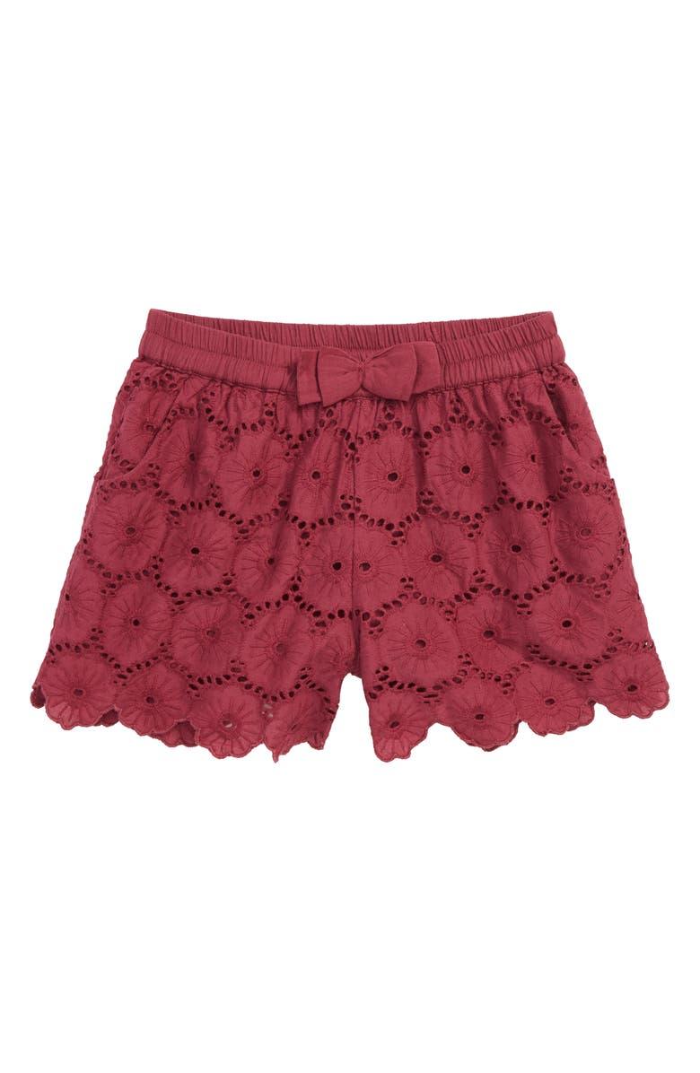 PEEK AREN'T YOU CURIOUS Peek Christy Eyelet Shorts, Main, color, 930