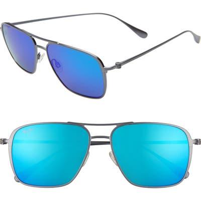 Maui Jim Beaches Polarizedplus2 57mm Navigator Sunglasses - Dove Grey/ Blue Hawaii