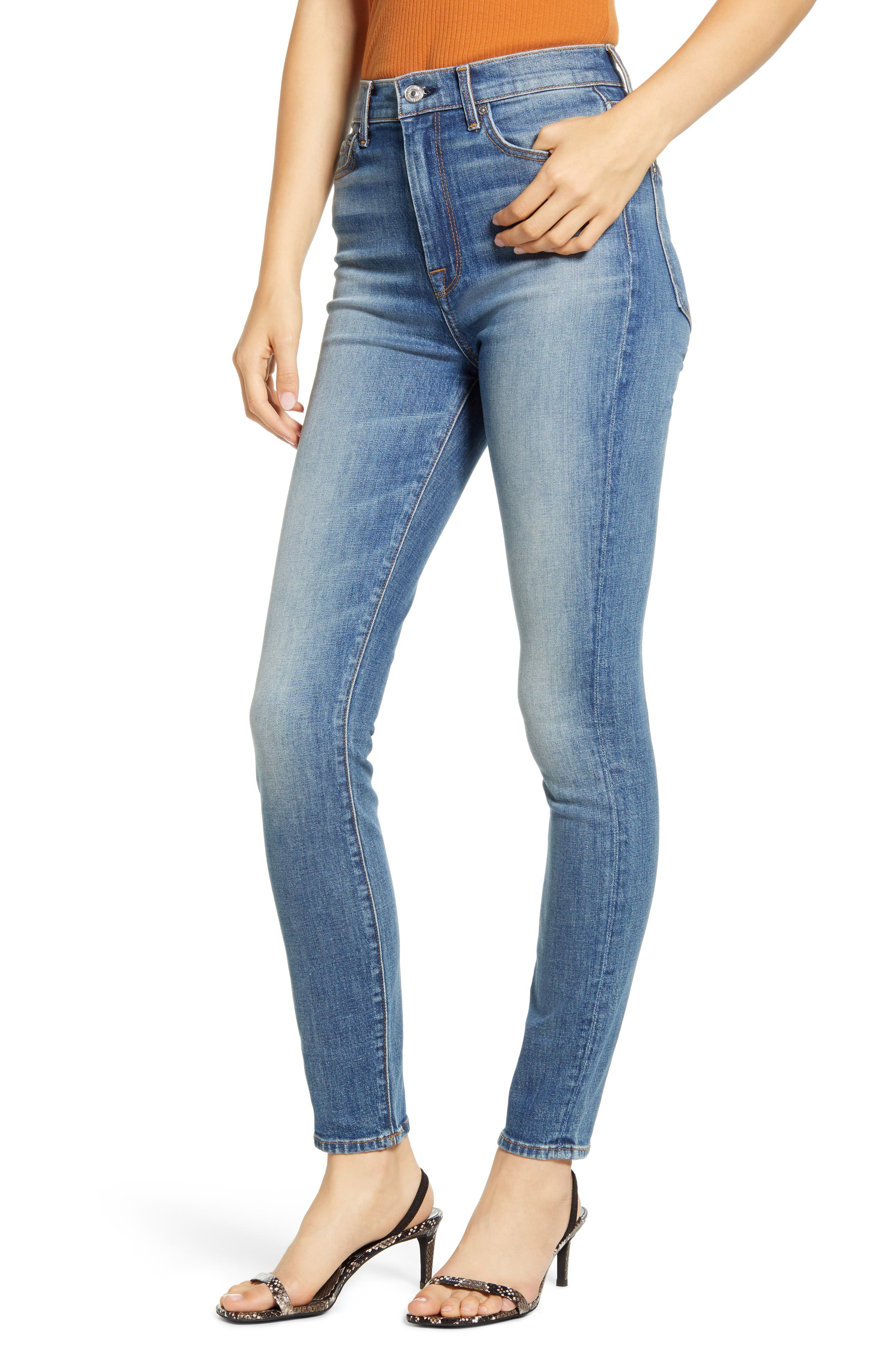 7 For All Mankind High Waist Ankle Skinny Jeans Nordstrom Rack