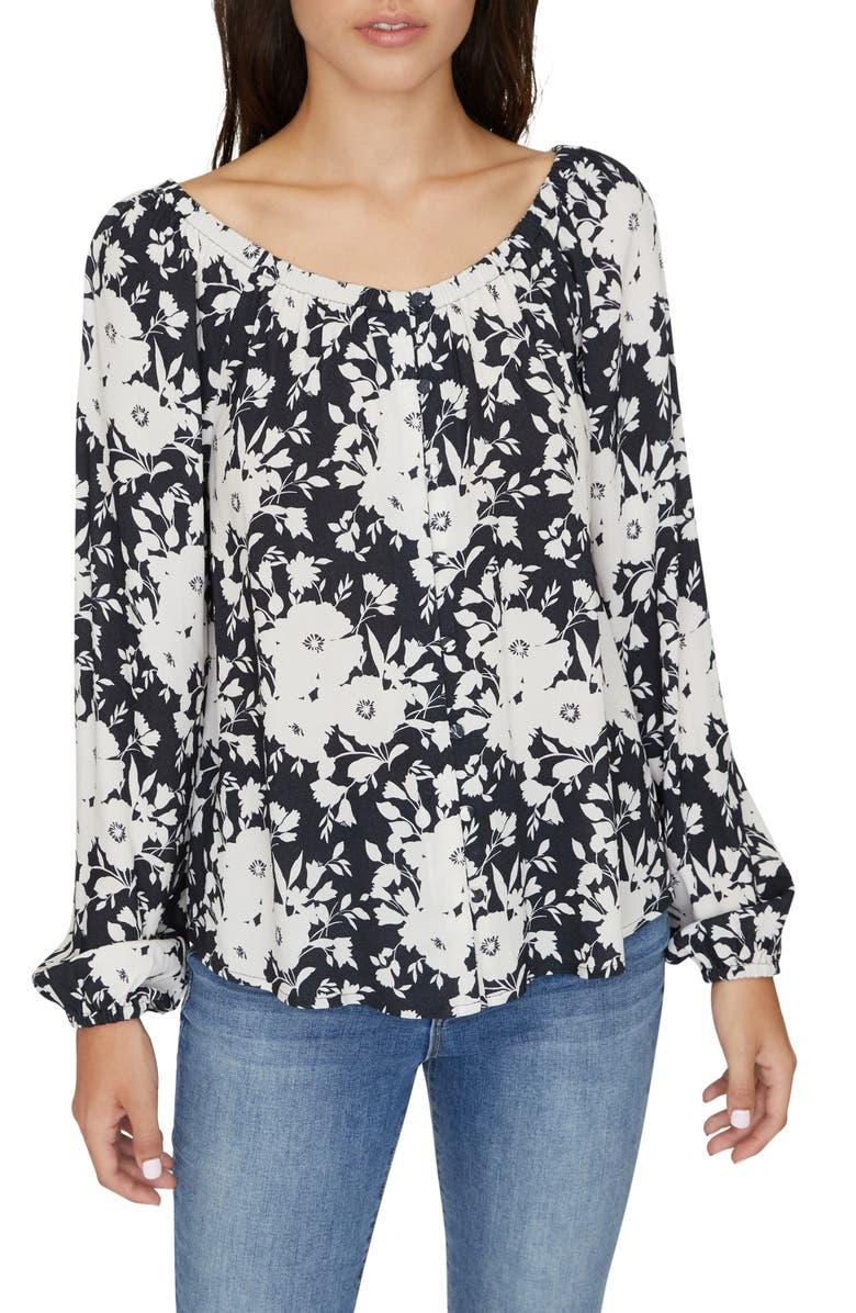 SANCTUARY Genevieve Floral Top, Main, color, SHADOW BLOOM