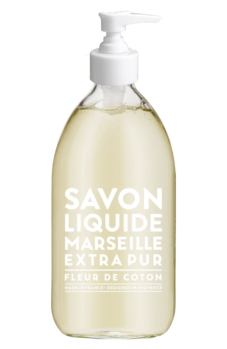 COMPAGNIE DE PROVENCE Cotton Flower Liquid Marseille Soap, Main, color, 000