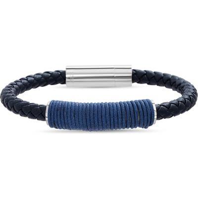 Ben Sherman Corded Bar Leather Bracelet