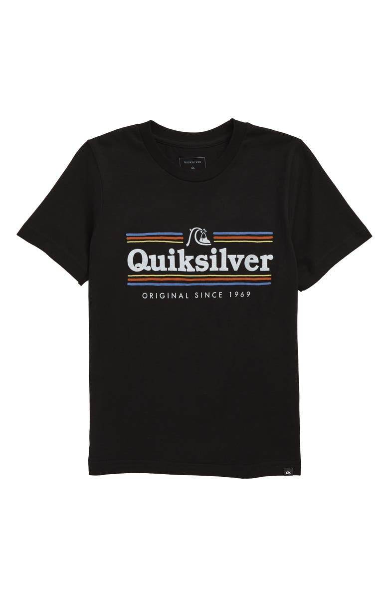 QUIKSILVER Get Buzzy Graphic T-Shirt, Main, color, BLACK