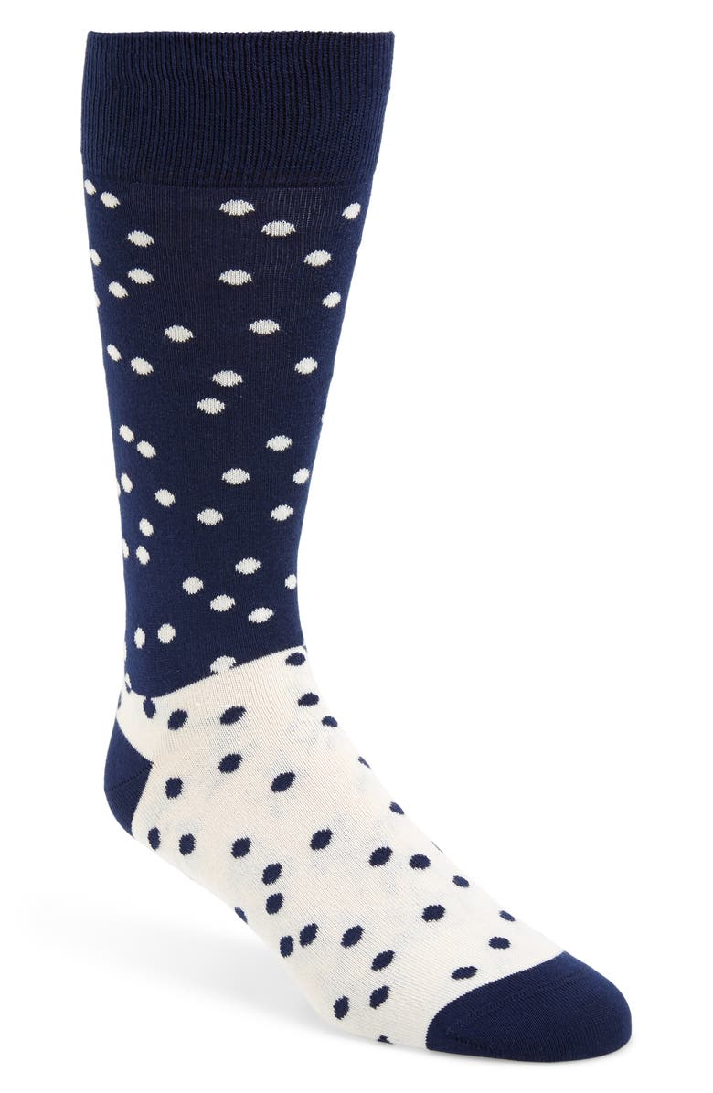 PAUL SMITH Stop Stamp Socks, Main, color, NAVY