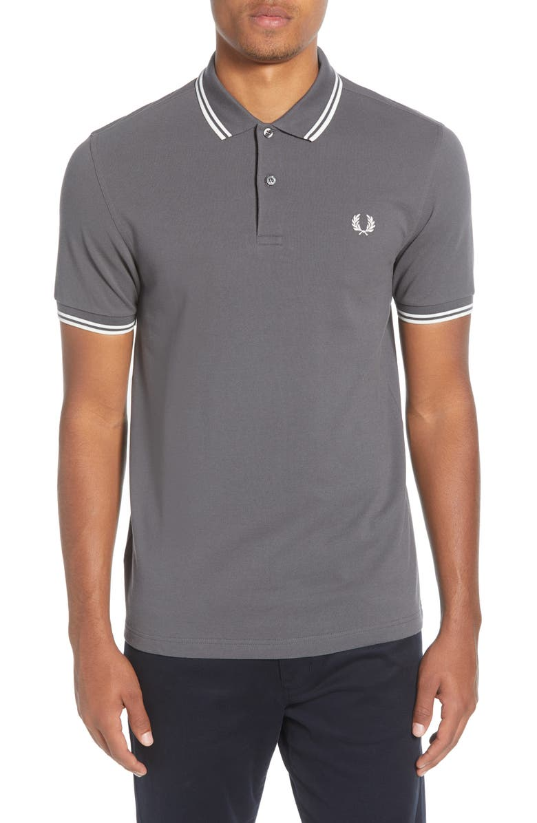 FRED PERRY Twin Tipped Extra Slim Fit Piqué Polo, Main, color, 036