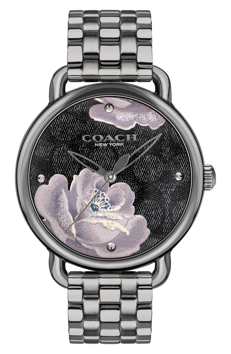 COACH Delancey Floral Bracelet Watch, 36mm, Main, color, 020
