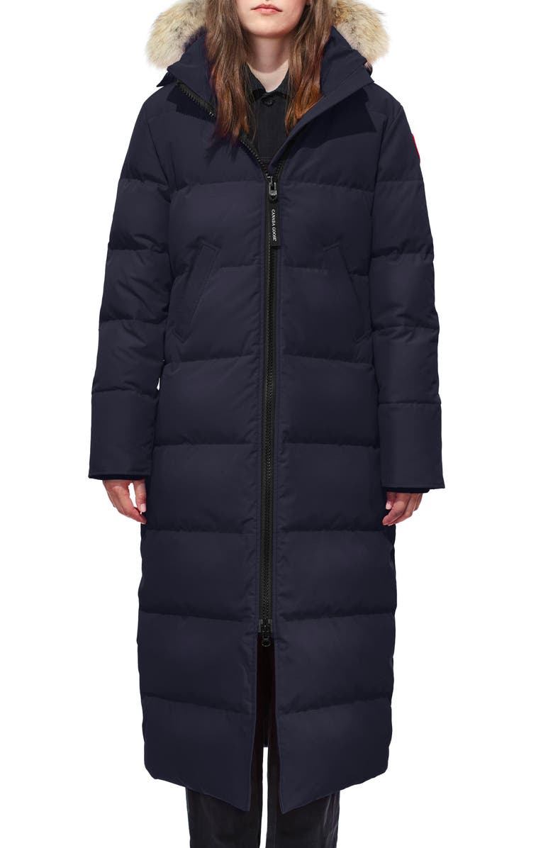 CANADA GOOSE Mystique Fusion Fit Down Parka with Genuine Coyote Fur, Main, color, ADMIRAL BLUE