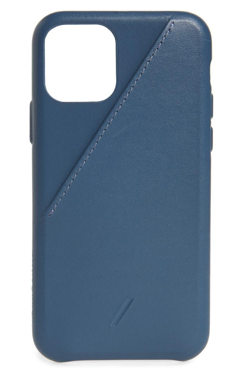 NATIVE UNION Clic Card iPhone 11 Pro Case, Main, color, NAVY
