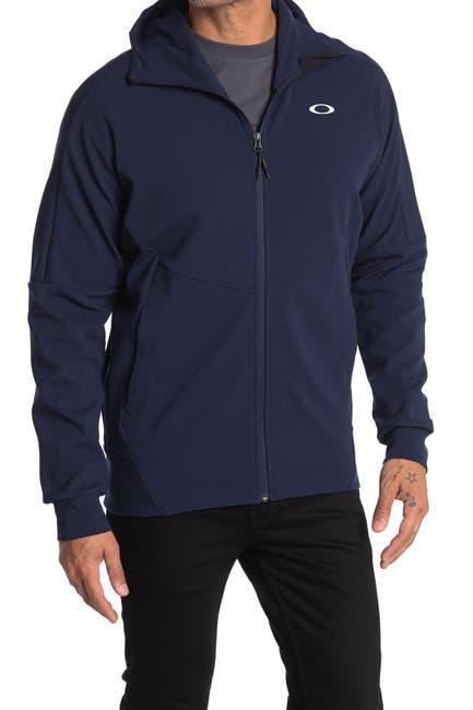 Image of Oakley Enhance Moility Logo Hooded Fleece Jacket