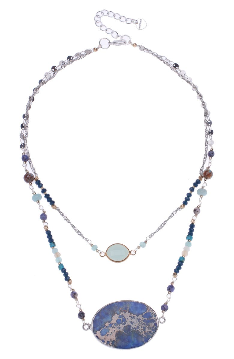 NAKAMOL CHICAGO Agate Layered Necklace, Main, color, 440