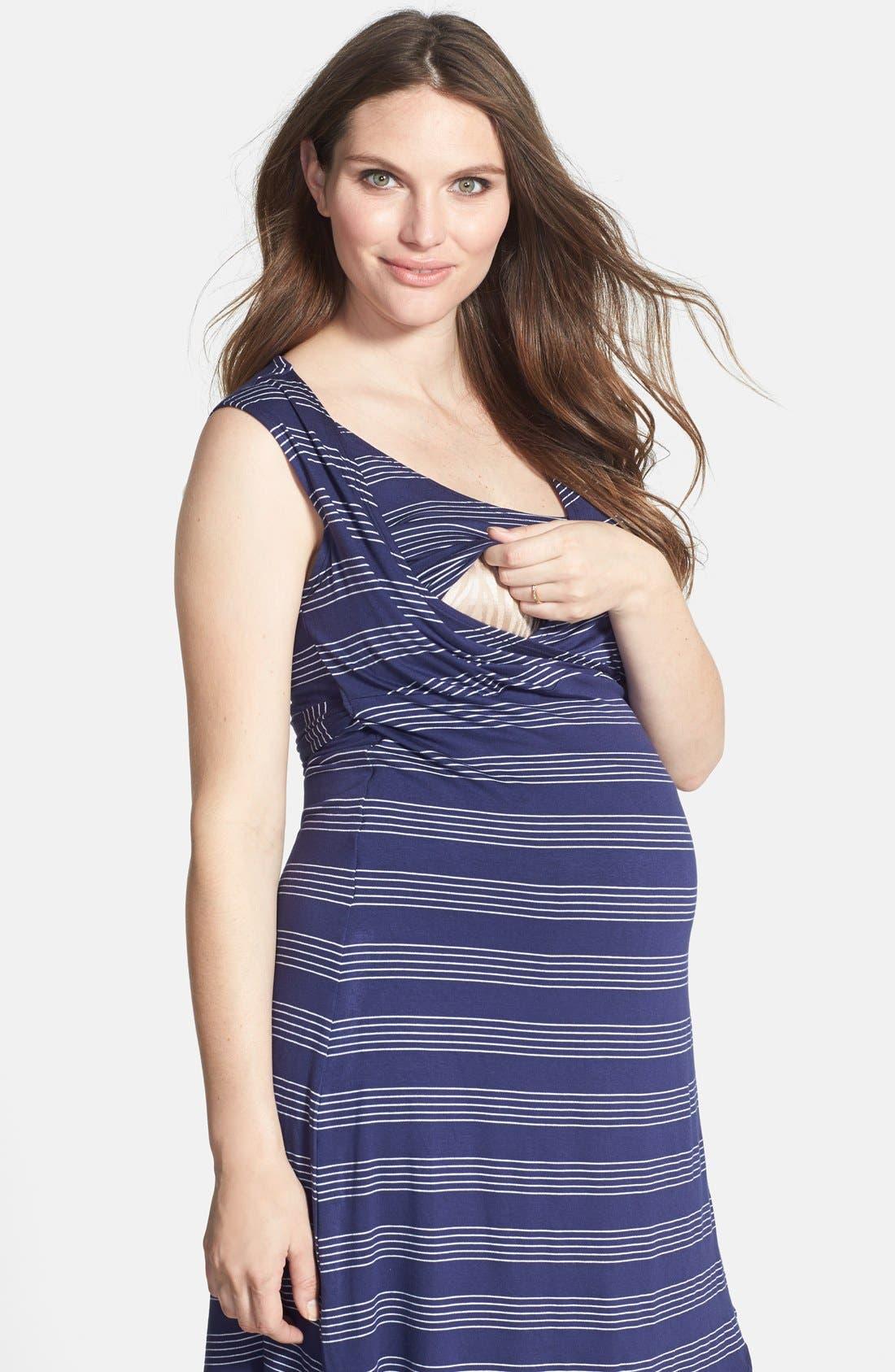 ,                             Sleeveless Wrap Maternity/Nursing Dress,                             Alternate thumbnail 5, color,                             460