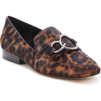 Sole Society So-Talulo Genuine Calf Hair Loafer- Brown