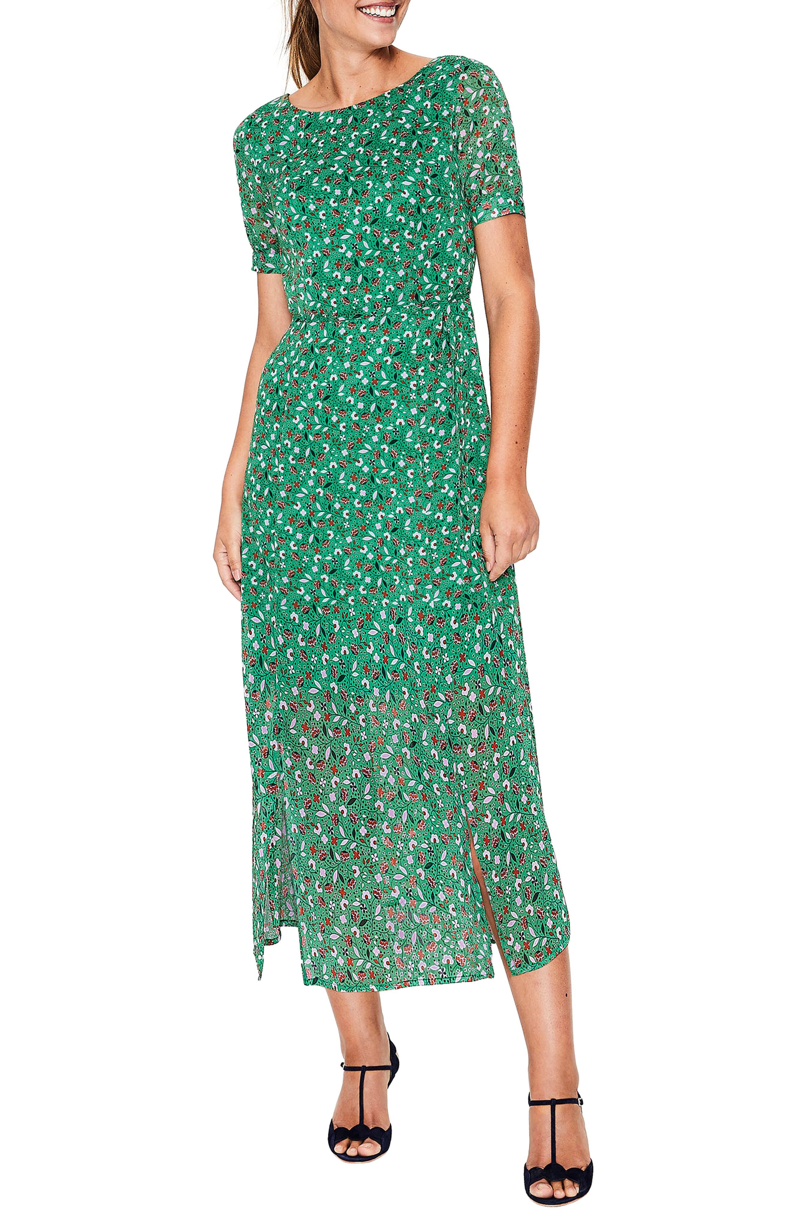 Petite Boden Jane Midi Dress, Green